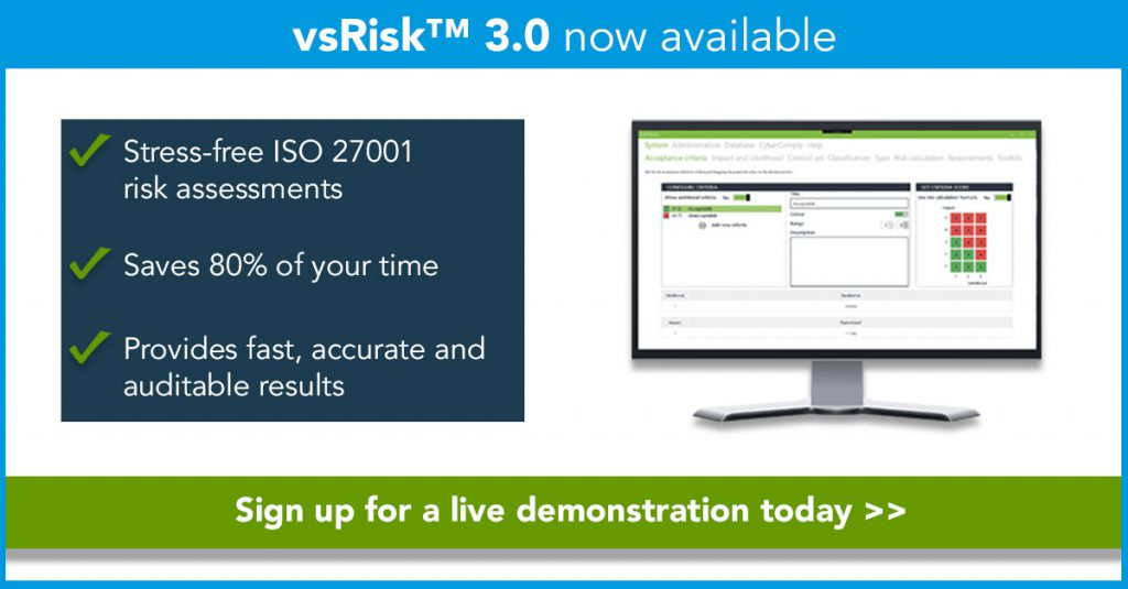 vsRisk 3.0 now available
