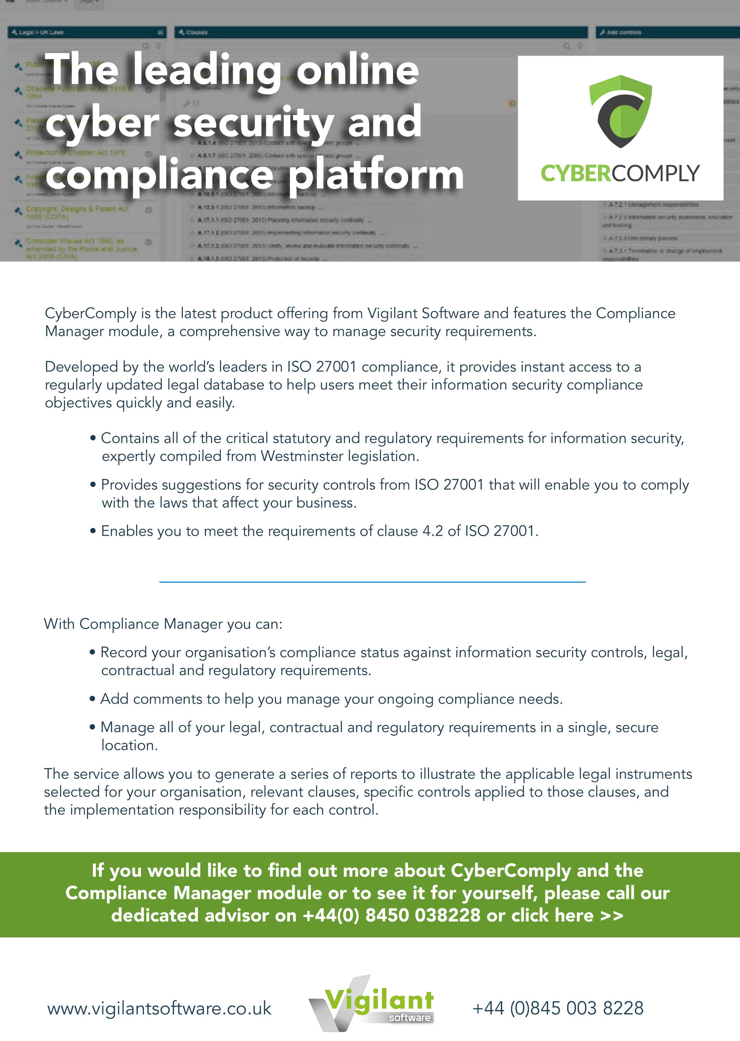 CyberComply the leading online cyber security and compliance platform