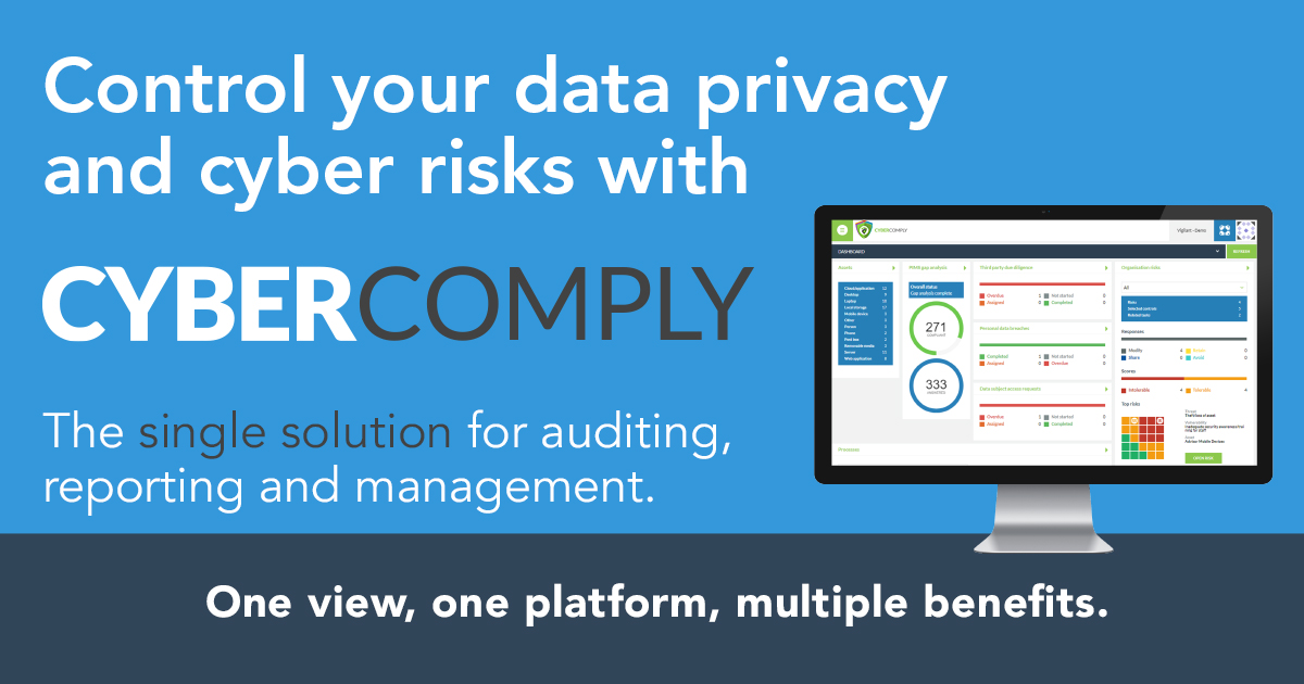 Control your data privacy and cyber risks with CyberComply